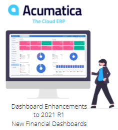acumatica 2021 r1 new financial dashboards