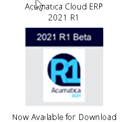acumatica cloud erp 2021 r1 beta