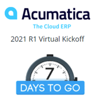 countdown to acumatica 2021r1 virtual kickoff
